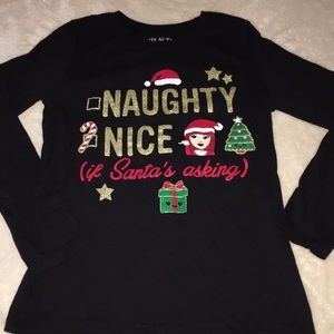 Naughty, Nice if Santa is Asking Long Sleeve